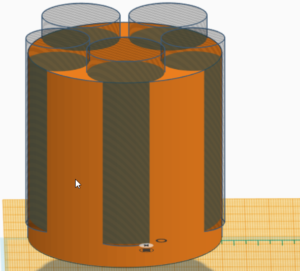 Coin Holder in Tinkercad